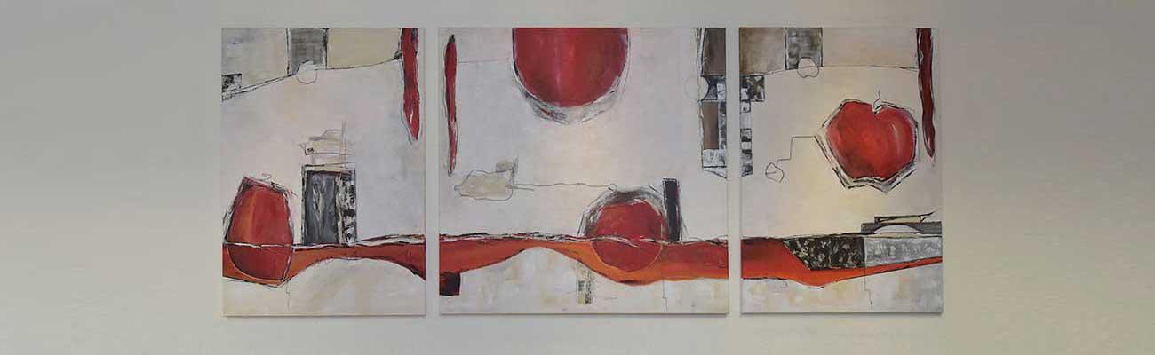 Triptychon von Yvonne Weiss